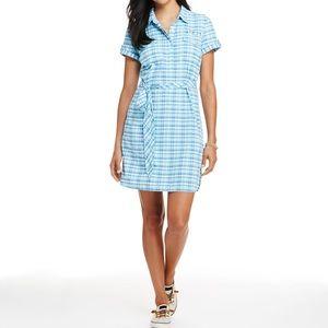 VINYARD VINES Plaid Harbour Shirt Dress